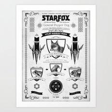 Star Fox Vintage Poster Geek Line Artly Art Print