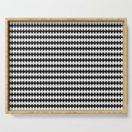 Modern Hatch - Black And White Serving Tray