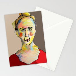 Colorful Woman Stationery Cards