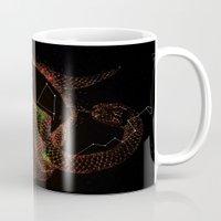 hydra Mugs featuring Corvus & Hydra constellation by Gaëlle Reitz