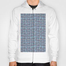 Navy Watercolour Rectangles Hoody