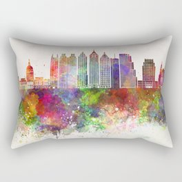Atlanta V2 skyline in watercolor background Rectangular Pillow