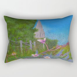 Chichester Bishops Palace Gardens Rectangular Pillow