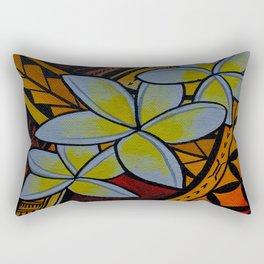 Fiery Plumerias Rectangular Pillow