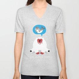 What Do Polar Bears Eat? Unisex V-Neck
