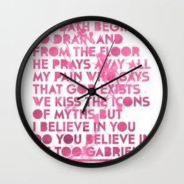 Passion Pit Gossamer Poster Wall Clock