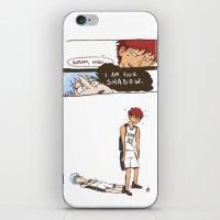 kuroko iPhone & iPod Skins featuring Kuroko no Basuke: Kagami's Shadow by meganbarker