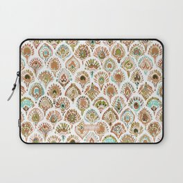 PEACOCK MERMAID Rose Gold Mint Scales and Feathers Laptop Sleeve