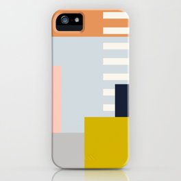 Carson Abstract Geometric Print in Multi iPhone Case