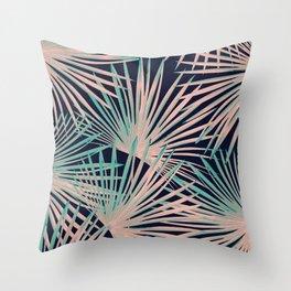 Tropical Fan Palm Leaves #5 #tropical #decor #art #society6 Throw Pillow