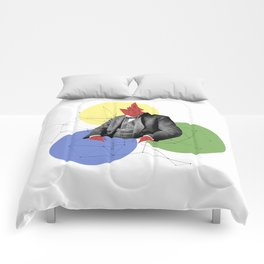 Abstract Collage Comforters