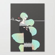Love in Black Canvas Print