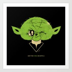 StarWars May the Force be with you (green vers.) Art Print