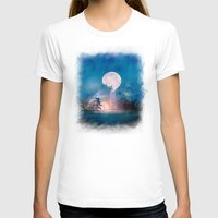 sun and moon T-shirts featuring Moon Above, Sun Below by Viviana Gonzalez