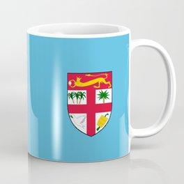 Fiji country flag name text Coffee Mug