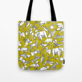 origami animal ditsy chartreuse Tote Bag