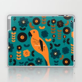 Parrot and flowers Laptop & iPad Skin