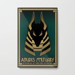 Anubis Mortuary Metal Print