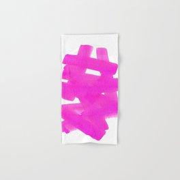 Superwatercolor Pink Hand & Bath Towel