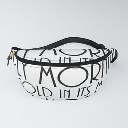 benjamin franklin quote, typography art Fanny Pack