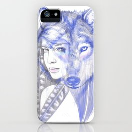 She Wolf iPhone Case