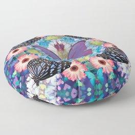 queen of the butterflies Floor Pillow