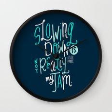 Not My Jam Wall Clock