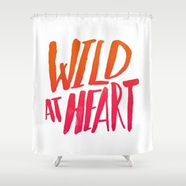 Wild At Heart x Typography Flame Ombre Shower Curtain