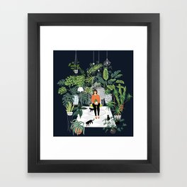 dark room print Framed Art Print