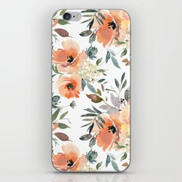 Peachy Keen Pattern iPhone Skin