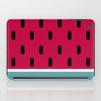 watermelon iPad Cases featuring Watermelon by According to Panda