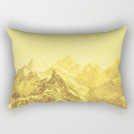 Mountains Yellow Rectangular Pillow