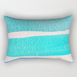 Bright Blue Sea Ribbons Rectangular Pillow
