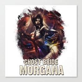 League of Legends GHOST BRIDE MORGANA Canvas Print