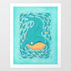 Big fish Art Print