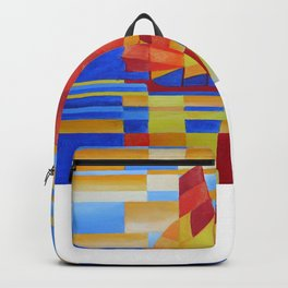 Sailing on the Seven Seas so Blue Cubist Abstract Backpack