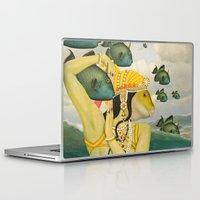 mermaid Laptop & iPad Skins featuring MERMAID by Julia Lillard Art