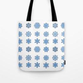 Snowflake Pattern Christmas Winter Snow Gift Design Tote Bag