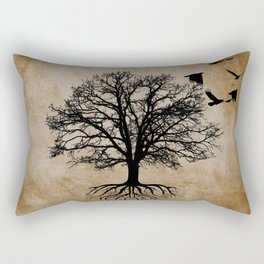 Tree of Life - Crow Tree A823 Rectangular Pillow