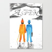 dumb and dumber Canvas Prints featuring Dumb & Dumber by Dan K Norris