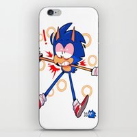 sonic iPhone & iPod Skins featuring sonic by Kai L.