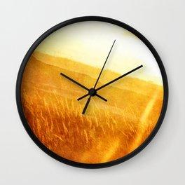 Through gold-woven dreams Wall Clock