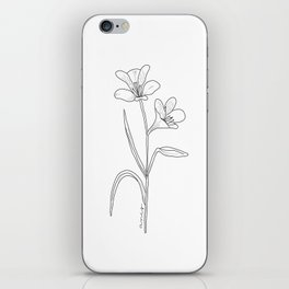 Amancay - Patagonian wildflower iPhone Skin