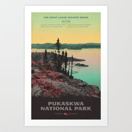 Pukaskwa National Park Art Print