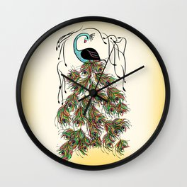 Vibrant Jungle Peacock Wall Clock