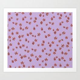Peppermint Candy in Purple Art Print