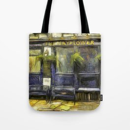 The Mayflower Pub London Van Gogh Tote Bag