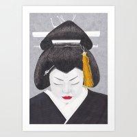 Woman from Japan Art Print