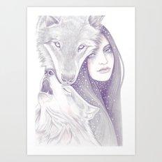 Winter Allies Art Print