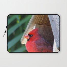 Cardinal in the birdhouse Laptop Sleeve